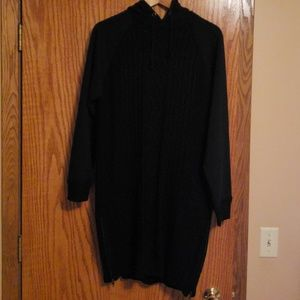 RD Style cable knit hoodie dress, sz M